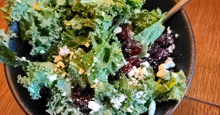 Fall Kale Salad–Easy & Delicious!